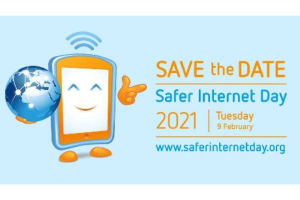 "Logo ""Save the Date Safer Internet Day 2021"""
