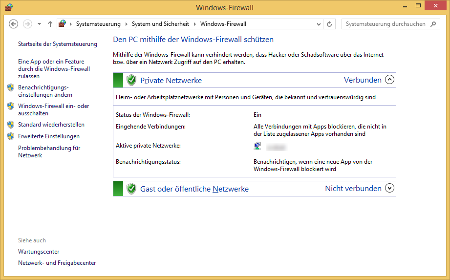 Firewall in Windows 8.1